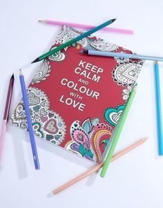 Раскраска Keep Calm and Colour with Love - Мульти Books