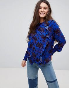 Блузка с цветочным принтом и высоким воротом Only - Мульти
