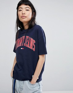 Футболка с логотипом Tommy Jeans - Темно-синий