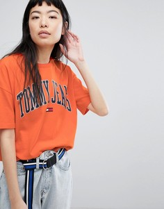 Футболка с логотипом Tommy Jeans - Оранжевый