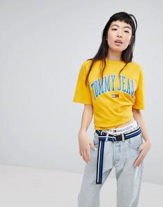 Футболка с логотипом Tommy Jeans - Желтый