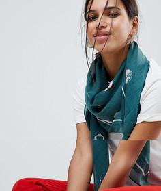 Легкий шарф Pieces - Зеленый