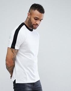 Белая футболка с полосками по бокам New Look - Белый
