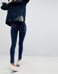 Рваные джинсы скинни с классической талией и моделирующим эффектом Freddy WR.UP - Синий