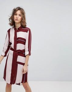 Платье-рубашка в полоску Selected Femme - Мульти