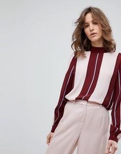 Блузка в полоску Selected Femme - Мульти