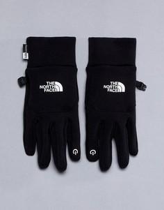Черные флисовые перчатки North Face - Черный