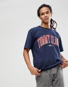 Темно-синяя футболка Tommy Jeans Collegiate Capsule - Темно-синий Hilfiger Denim