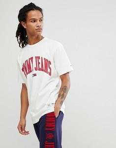 Белая футболка Tommy Jeans Collegiate Capsule - Белый Hilfiger Denim