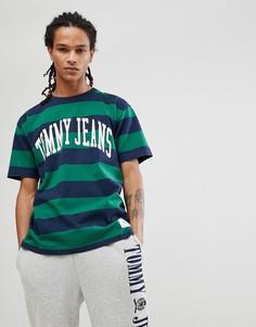 Зеленая футболка в полоску Tommy Jeans Collegiate Capsule - Зеленый Hilfiger Denim