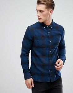 Фланелевая рубашка в клетку D-Struct - Темно-синий