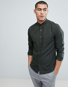 Узкая оксфордская рубашка Only & Sons - Синий