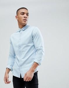 Светлая приталенная джинсовая рубашка Only & Sons - Синий