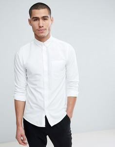 Узкая оксфордская рубашка Only & Sons - Белый