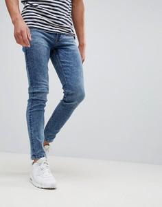 Синие выбеленные джинсы скинни Only & Sons - Синий
