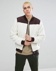 Белая куртка из искусственного меха Dickies - Белый