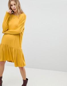 Платье с заниженной талией Boohoo - Желтый