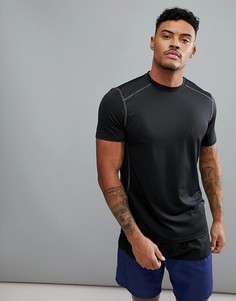 Черная эластичная футболка New Look SPORT - Черный