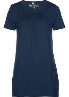 Длинная футболка (темно-синий) Bonprix