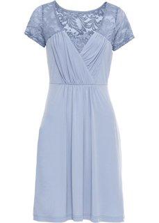 Платье с кружевом (нежно-голубой) Bonprix