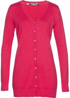 Удлиненный кардиган (ярко-розовый) Bonprix