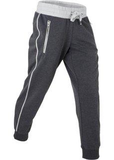 af270fda94b3 Спортивные трикотажные брюки 7/8 (шиферно-серый/серебристый матовый меланж)  Bonprix