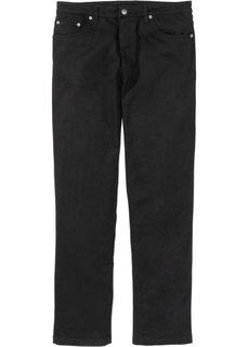 Брюки-стретч Classic Fit Straight, низкий + высокий рост (U + S) (черный) Bonprix