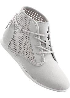 Ботинки на шнуровке (светло-серый) Bonprix
