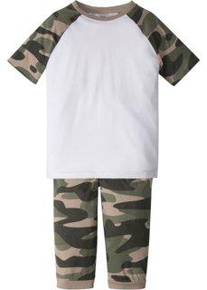 Пижама с заниженным шаговым швом (2 изд.) (оливковый камуфляж) Bonprix