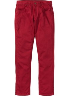Прямые классические брюки, cредний рост (N) (темно-красный) Bonprix