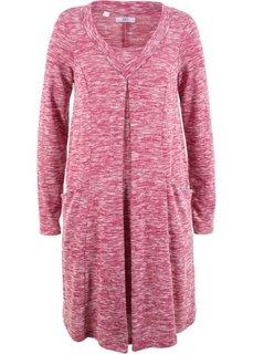 Платье с длинным рукавом (красно-ягодный меланж) Bonprix