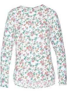 Блузка с принтом (белый с рисунком) Bonprix