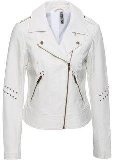 Куртка с заклепками (белый) Bonprix