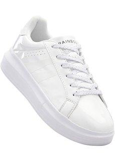 Кеды на платформе (белый) Bonprix