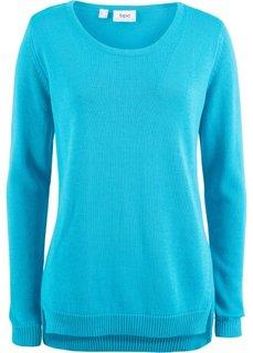 Пуловер с боковыми разрезами (светло-голубой) Bonprix