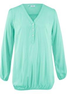Однотонная блузка с длинными рукавами (нежная мята) Bonprix