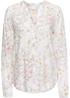 Блузка с принтом (кремовый в цветочек) Bonprix