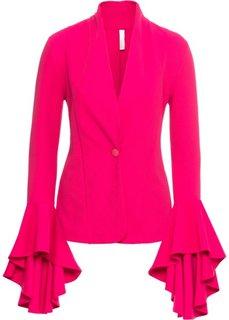 Пиджак с воланами на рукавах (ярко-розовый) Bonprix