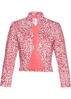 Жакет-болеро (нежный ярко-розовый/белый с рисунком) Bonprix