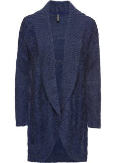Кардиган вязаный (полуночная синь/черный меланж) Bonprix