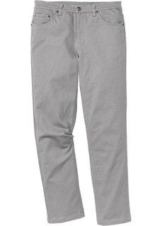Брюки-стретч Classic Fit Straight, низкий + высокий рост (U + S) (серый) Bonprix