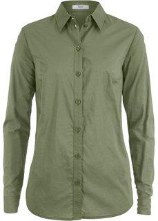 Блузка с длинным рукавом (серо-зеленый) Bonprix
