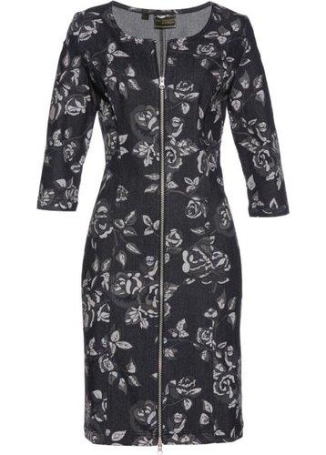 Джинсовое платье (черный с рисунком)