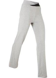 Спортивные брюки-стретч (светло-серый меланж) Bonprix