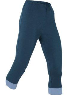 Трикотажные легинсы-капри (темно-синий/персиковый) Bonprix