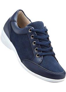 Туфли из кожи и замши (темно-синий) Bonprix