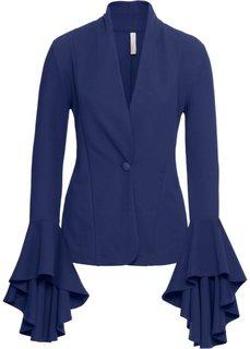 Пиджак с воланами на рукавах (полуночная синь) Bonprix