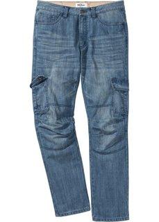 Джинсы-карго Regular Fit Straight, cредний рост (N) (синий) Bonprix