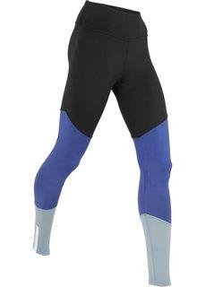 Легинсы для бега Level 3 (черный/синий/серебристо-серый) Bonprix