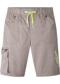 Бермуды с карманами (светло-серый с рисунком) Bonprix